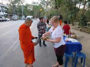 Morning Alm at Wat Doi Suthep